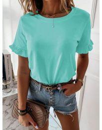 Дамска тениска в цвят мента - код 068