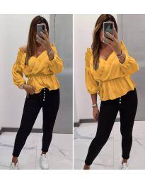 Дамска блуза в цвят горчица - код 7771