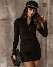 Дамска рокля в черно - код 4288