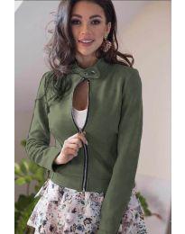 Дамско яке в маслено зелено - код 887
