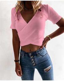 Дамска тениска в розово - код 1102
