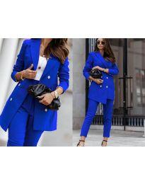 Дамски комплект в тъмно синьо - код 2223