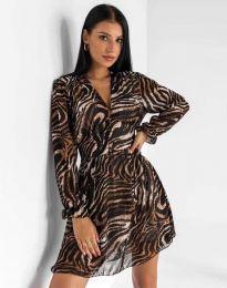 Дамска рокля с атрактивен десен - код 8433 - 2