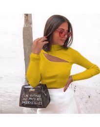 Дамска блуза в цвят горчица - код 9622
