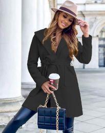 Дамско палто в черно - код 4973