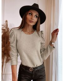 Дамска блуза в бежово - код 9556