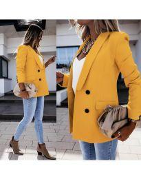 Елегантно дамско сако в цвят горчица - код 949