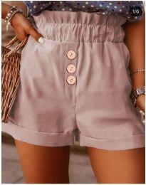 Къси панталонки в цвят пудра- код 9383