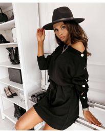 Дамска рокля в черно - код 4243