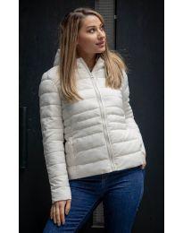 Дамско късо яке в бяло - код 0343