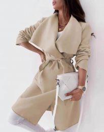 Дамско палто в бежово - код 0960
