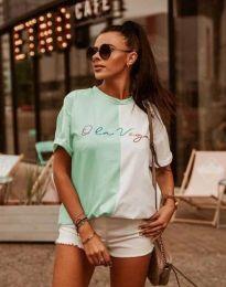 Атрактивна дамска тениска с надпис - код 0563 - 2