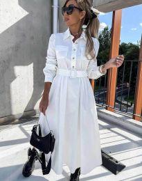 Дамска рокля в бяло - код 1467