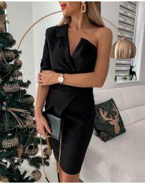 Елегантна рокля в черно - код 15944