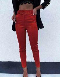 Дамски панталон в червено - код 9059