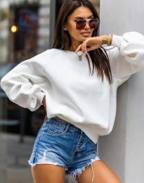 Стилна дамска блуза в бяло - код 5687