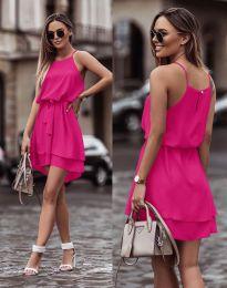 Феерична рокля в цвят циклама - код 2104
