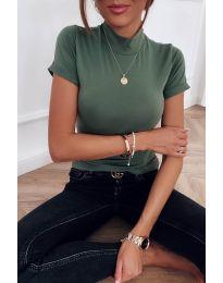 Дамска блуза в маслено зелено - код 411