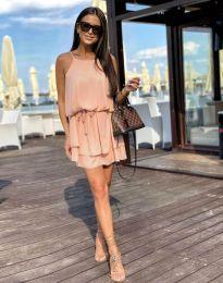 Феерична рокля в цвят праскова - код 2104