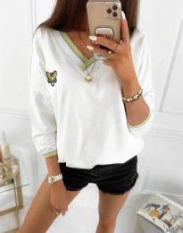Атрактивна дамска блуза в бяло - код 9173