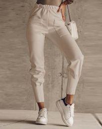 Дамски панталон в бежово - код 2252