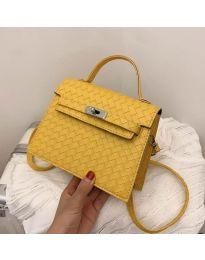 Дамска чанта в цвят горчица - код B153