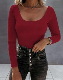 Екстравагантна дамска блуза в бордо - код 4833