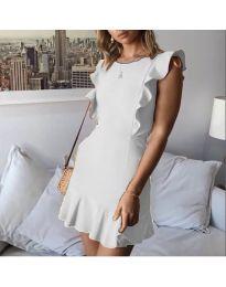 Елегантна рокля в бял цвят - код 548