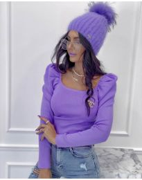 Дамска блуза в лилаво - код 2180