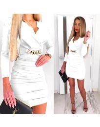 Дамска рокля в бяло - код 8999
