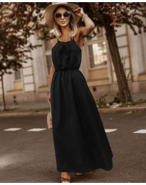 Изчистена рокля в  черно - код 3323