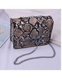 Дамска чанта с атрактивен десен в кафяво - код B4-002