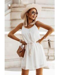 Изчистена рокля в бяло - код 8800