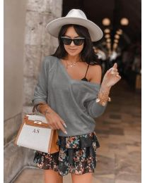 Дамска блуза в сиво - код 6013