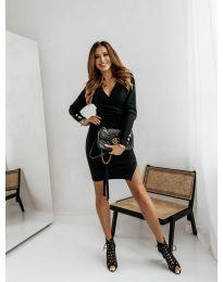 Дамска рокля в черно - код 9510