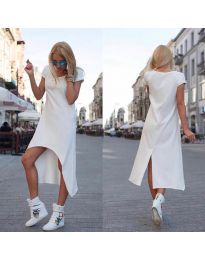 Свободна рокля в бяло - код 336