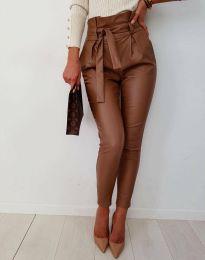 Дамски панталон в кафяво - код 6194