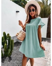 Свободна дамска рокля в цвят мента - код 744