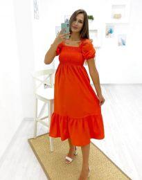 Дамска рокля в оранжево - код 3283