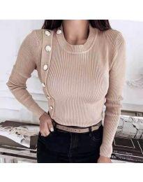 Дамска блуза в бежово - код 9989