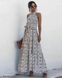 Дълга рокля с атрактивен десен - 6214 - 2