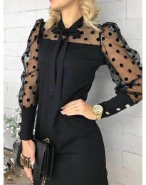 Елегантна рокля в черно - код 1081