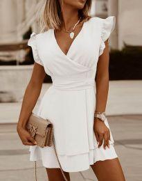 Ефирна дамска рокля в бяло - код 5654