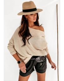 Дамска пуловер в бежово - код 4323