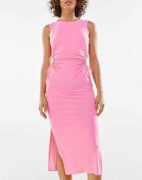 Дамска рокля в розово - код 1272