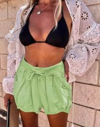 Къси панталонки в светлозелено - код 0320