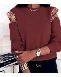 Атрактивна дамска блуза в бордо - код 1539