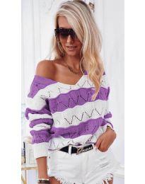 Дамска блуза в лилаво - код 8689