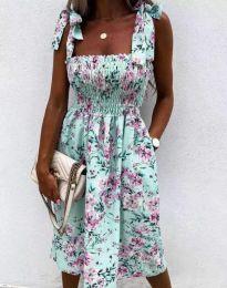 Дамска рокля с флорален десен - код 4535 - 2