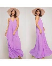 Свободна дълга рокля в лилаво- код 0508